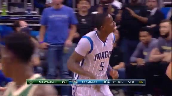 Elfrid, Oladipo Fastbreak Alley-Oop vs Bucks
