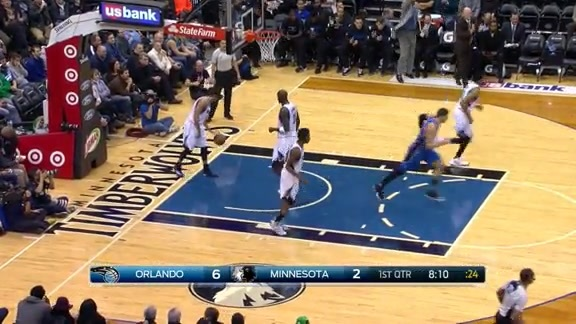 Payton Finds Vucevic For The Slam vs Wolves