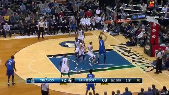 Vucevic Dunks vs Wolves