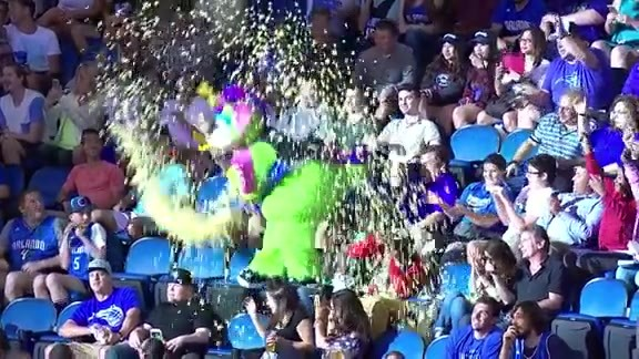 STUFF pours popcorn all over fans