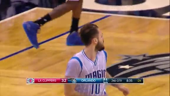 Evan Fournier Driving Dunk vs. Clippers