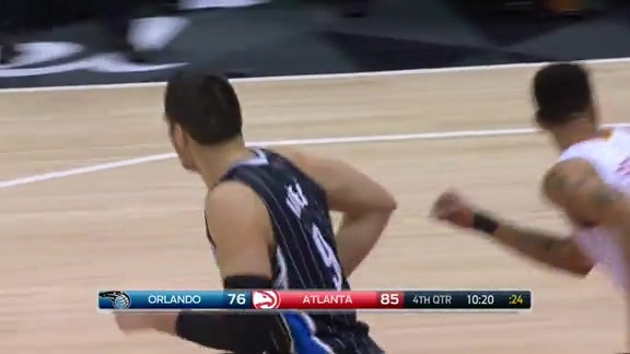 Vucevic Hustle and Drive vs Hawks