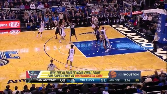 Vucevic Tips It In vs Spurs