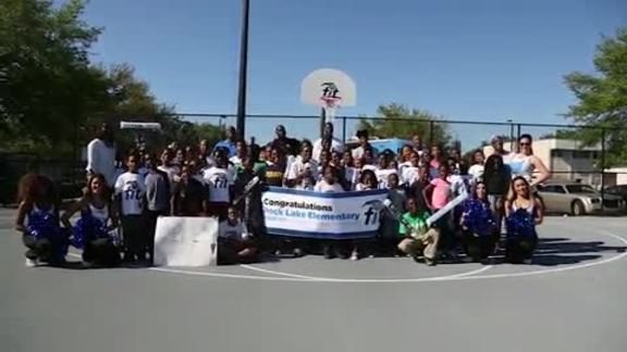 Elfrid Payton and Dewayne Dedmon Surprise Local Students for Magic FIT Participation
