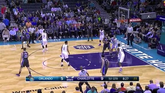 Vucevic Slams vs Hornets