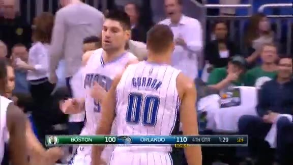 Aaron Gordon Putback Slam vs Celtics