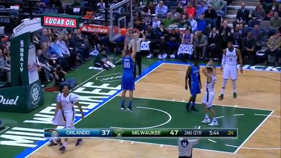 Aaron Gordon Hoop-and-Harm Dunk vs. Bucks