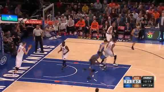 Mario Hezonja Alley-Oop to Dewayne Dedmon vs. Knicks