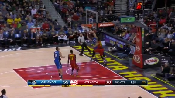 Mario Hezonja Fast Break Dunk vs. Hawks