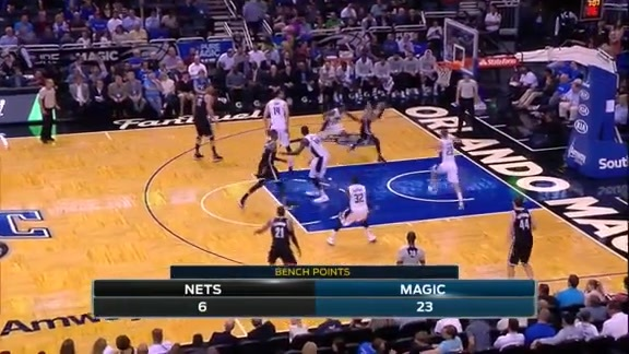 Mario Hezonja's Big Swat vs. Nets