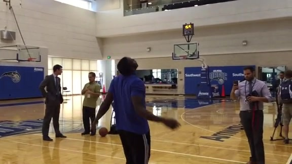 Victor Oladipo's Steph Curry and Russell Westbrook Impersonations