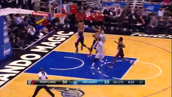 2015-16 Best Defensive Plays: Oladipo Blocks McCollum