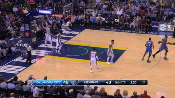Serge Ibaka Alley-Oop Slam vs. Grizzlies