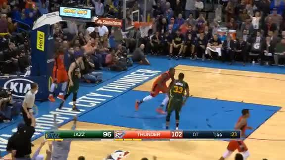 Serge Ibaka Block on Gordon Hayward