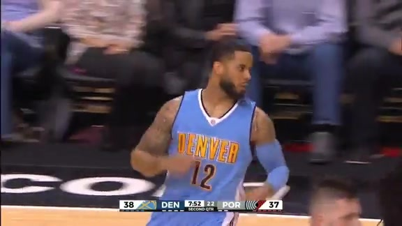 D.J. Augustin Alley-Oop to Kenneth Faried