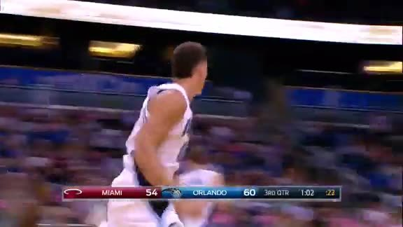 Mario Hezonja to Aaron Gordon Bounce Pass Dunk