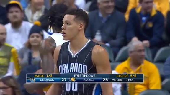 Mario Hezonja Sweet Pass to Aaron Gordon