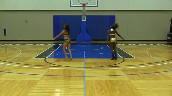 Orlando Magic Dancer Auditions: Victoria Q. and Brittany E.