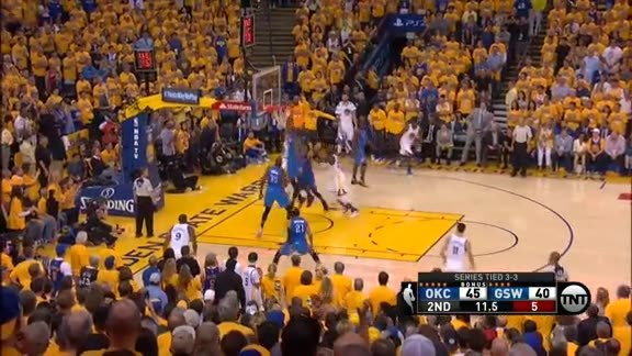 Serge Ibaka Block on Stephen Curry