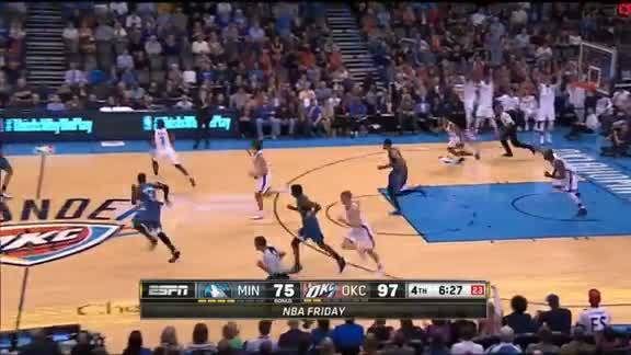 Serge Ibaka Block on Karl-Anthony Towns