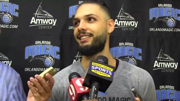 Evan Fournier: Camp Day 1
