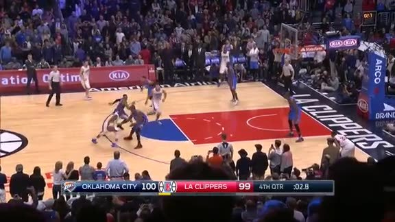 Serge Ibaka Textbook Defense on Chris Paul