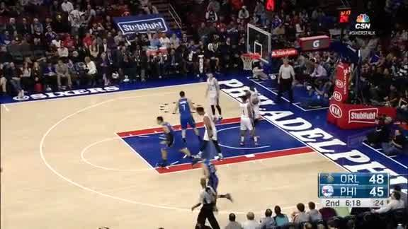 Mario Hezonja 3-Pointer vs Sixers