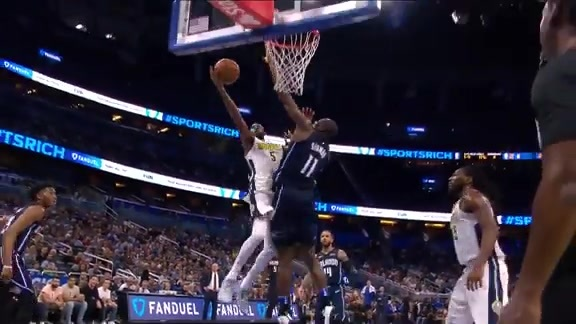 Biyombo Blocks Barton