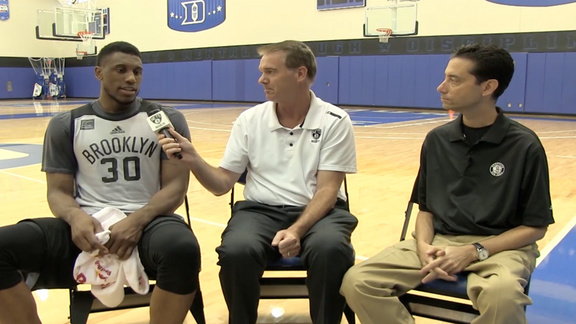 Thaddeus Young Training Camp Interview