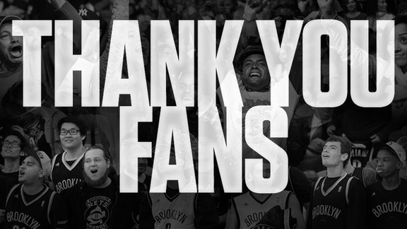WATCH: THANK YOU NETS FANS