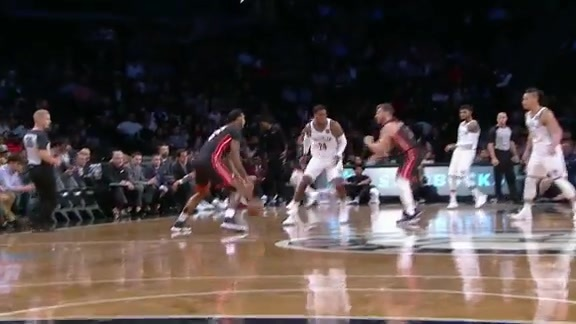 Russell Drains First Three at Barclays Center