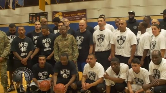 Nets Celebrate Veteran's Day