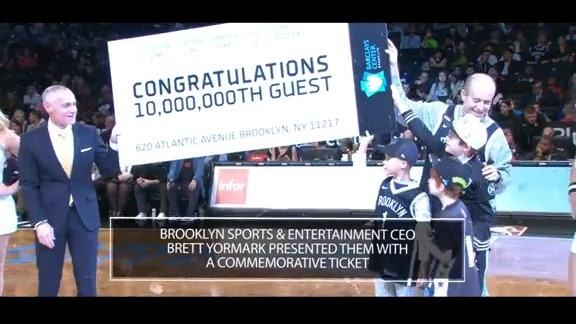 Barclays Center Welcomes 10 Millionth Guest