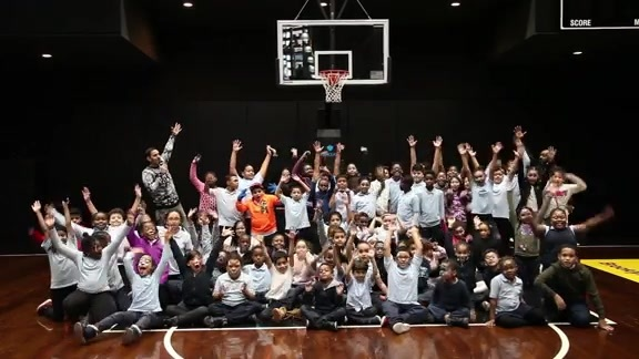 Nets spread cheer with holiday party for children