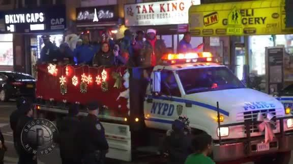 Brooklyn Nets Players Joined NYPD Officers in Their Annual Sleigh Ride