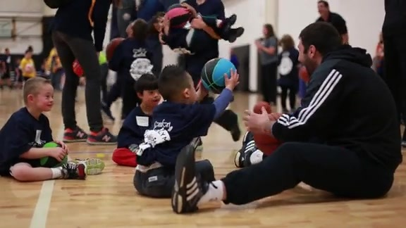 Special Olympics Basketball Skills Clinic Takes Flight
