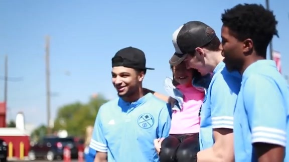 Nuggets Participate in 5th Annual giveSPORTS Equipment Drive