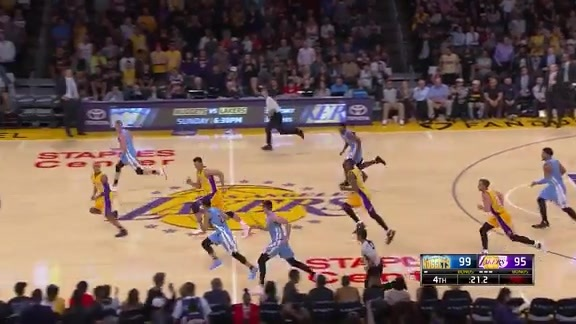 Preseason: Nuggets at Lakers Highlights