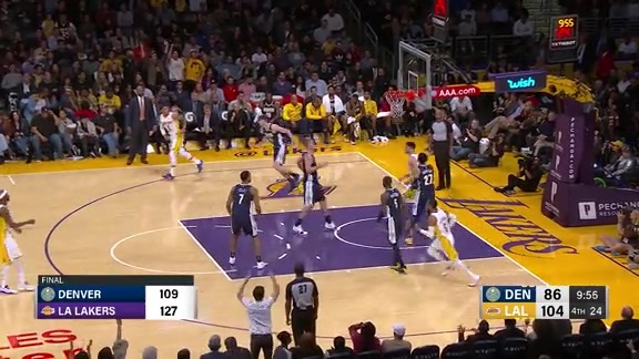 Toyota Game Recap: Nuggets at Lakers
