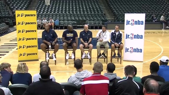 Pacers Staff Leads Coaching Clinic for Jr. NBA Week