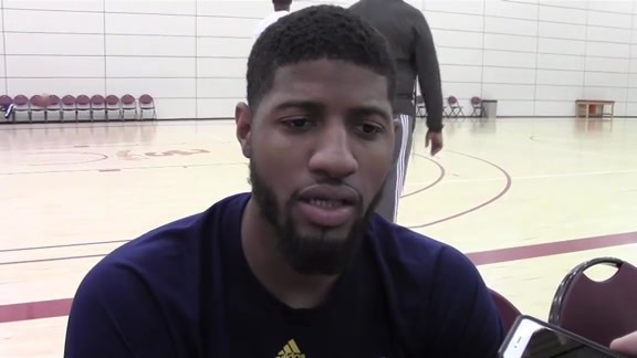 Shootaround: PG on Facing Lakers