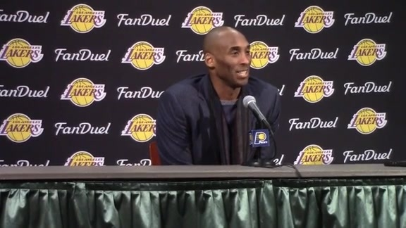 Postgame: Kobe Bryant Press Conference