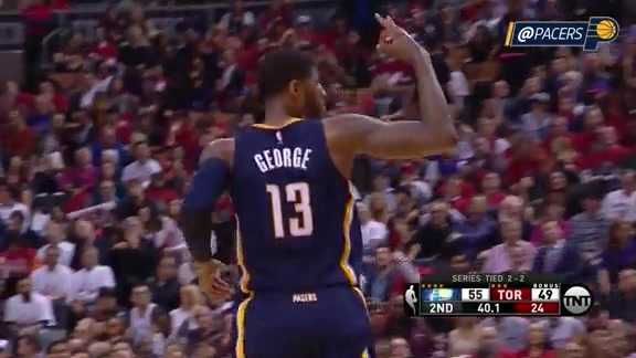 Paul George Posts 10-Point Second Quarter (Game 5)