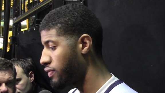 Practice: Paul George on Overcoming Game 5's Ending, Avoiding Elimination in Game 6
