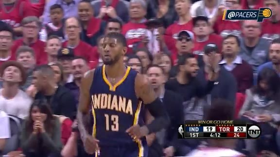 Paul George Throws Down the 360 Slam Dunk (Game 7)