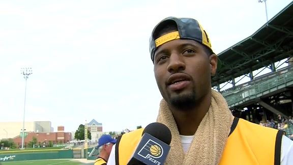 2016 Celebrity Softball Challenge: Paul George