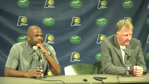 Larry Bird and Nate McMillan on Offseason Moves
