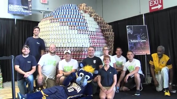 Pacers CANstruction Entry at Indiana State Fair