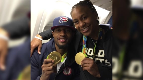 Catchings on Sharing Olympic Experience with Paul George