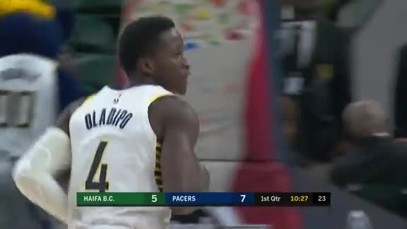Oladipo Hits Early 3